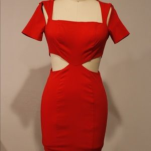 Dresses & Skirts - Red Cut out party dress